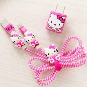 NWT Hello Kitty Phone Accessories Kit